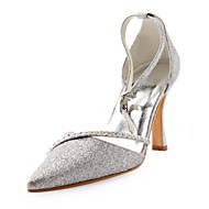 Sparkling Glitter Upper Stiletto Heel Sandals With Rhinestone Wedding Shoes More Colors Available