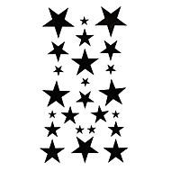 5 pcs estrela tatuagem temporária à prova de água (17,5 centímetros 10cm *)