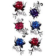 5 piezas rosa tatuaje temporal a prueba de agua (17,5 cm * 10cm)