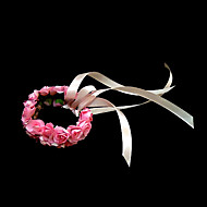"Wedding Flowers Round Wrist Corsages Wedding Party/ Evening Paper Pink 4.72""(Approx.12cm)"