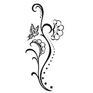 5 piezas de flores tatuaje temporal a prueba de agua (12,5 cm * 6,5 cm)