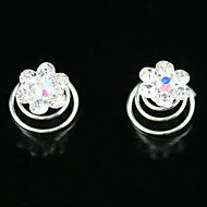2 Pieces Gorgeous Rhinestones Bridal Pins Wedding/ Special Occasion Headpieces