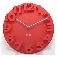 """14 """"Numéro 3d horloge de mur muette"""
