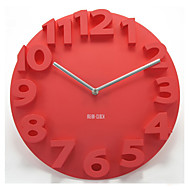"14 ""3d αριθμό σίγασης ρολόι τοίχου"