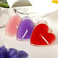 심장 디자인 작은 촛불 (6 개 세트)