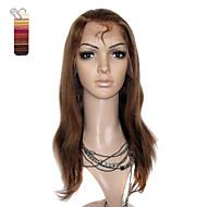 full blonder middels lange yaki rette 100% india Reme hår parykk flere farger å velge