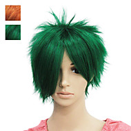 Capless Short Green Straight Synthetic Hair Wig Two Colour To Choose