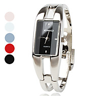 Women's Watch Fashionable Rectangle Case Silver Alloy Bracelet Cool Watches Unique Watches