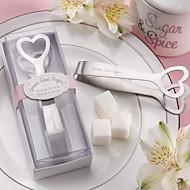 pinzas amor acero inoxidable de azúcar de diseño