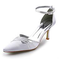 top in raso tacco di qualità superiore ad alta chiuso le dita dei piedi con le scarpe da sposa strass da sposa (a0605w)