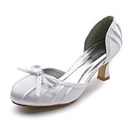 Obermaterial Satin Peeptoes mit Schleife Hochzeit Schuhe / Brautschuhe. weitere Farben erhältlich