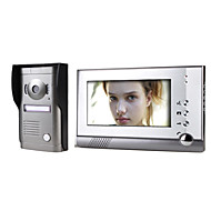 7 Inch Color Video Door Phone System with  Alloy Weatherproof Cover Camera