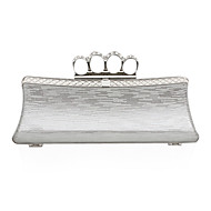 Faux Leather With Crystal/Rhinestone Clutch/Evening/Novelty Bag (More Colors)