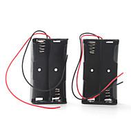 accubak voor vier 18650 batterijen (zwart)