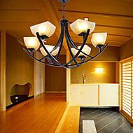 luz do pendente antigo inspirado com 6 luzes