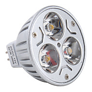 Spot Blanc Chaud MR16 GU5.3 3 W 3 LED Haute Puissance 270 LM 3000K K DC 12 V