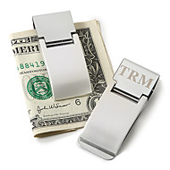 Gift Groomsman Personalized Silver Metal Money Clip