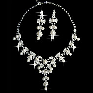 White Pearl Two Piece Fantasy Ladies' Jewelry Set (45 cm)