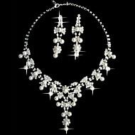 """ensemble de bijoux de perles blanches deux dames fantaisie pièce """"(45 cm)"""
