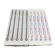 50PCS Sterile Stainless Steel Tattoo Needles 25 6F 25 7RS