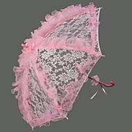 """Svatba Krajka Deštník s rukojetí ve tvaru háčku 72 cm (cca 28,4"""") Umělá hmota 96 cm (cca 37,8"""")"""