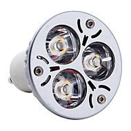 Spot Blanc Chaud MR16 GU10 3 W 3 LED Haute Puissance 300 LM 3000K K AC 85-265 V