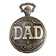 Men's DAD Logo Alloy Analog Quartz Pocket Watch (Bronze) Cool Watch Unique Watch