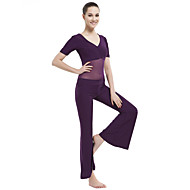 Belly Dance Outfits Women's Training Crystal Cotton 2 Pieces Short Sleeve Dropped Top / Pants