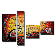 Kézzel festett Absztrakt Négy elem Vászon Hang festett olajfestmény For lakberendezési