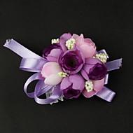 flores do casamento de cetim / algodão de forma livre pulso de casamento corpete (mais cores)