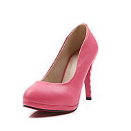 Fall / Winter Heels / Platform Leatherette Office & Career Stiletto Heel Black / Pink / Red / Gold