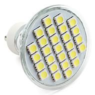 4W GU10 Spot LED MR16 27 SMD 5050 300 lm Blanc Naturel V