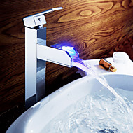 Sprinkle® - ved lightinthebox - fargeendringen ledede waterall bathroom sink tappekran (høy)
