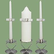 Rhinestone bryllup enhet lys set-hvite (lysestaker ikke inkludert)