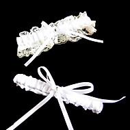 ラインストーン/リボンの結婚式のガーター付き2ピースレース/ポリエステル