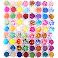 Combinação de Decoração Nail Art - Brilho em 72 Cores