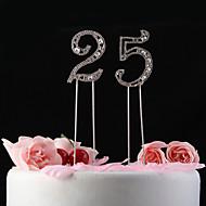 toppers gâteau brillants strass avec gâteau modèle de nunmer topper (longueur de bâton de 12cm)