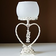 décoration de mariage en argent cristal balançant titulaire amour bougie plaqué