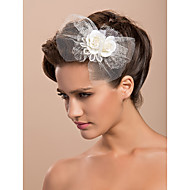 Tulle Wedding Bridal Two Flowers/ Corsage/ Headpiece