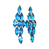 Elegant 18K Gold Plated Cubic Zirconia Chandelier Earrings(More Colors)