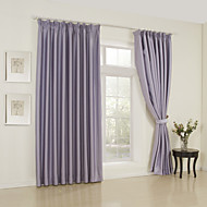 Two Panels Modern Solid Lavender Bedroom Rayon Panel Curtains Drapes