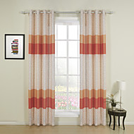 Two Panels Curtain Designer , Stripe Dining Room Poly / Cotton Blend Material Curtains Drapes Home Decoration For Window