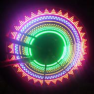 1pcs luz bicicleta spokelit levou luz de segurança para rodas de bicicleta 32 padrões (3xAAA)
