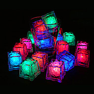 20 - LED Ice Cubes Lys farge skiftende lys