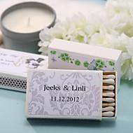 decoración de la boda cajas de fósforos personalizados - impresión elegante (juego de 12)