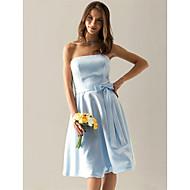 Liquidation! une ligne de longueur genou bretelles en satin de demoiselle d'honneur / mariage robe de soirée