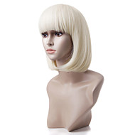 Capless Short Sandy Blonde Straight Heat-resistant Fiber Wigs
