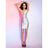Sheath/Column Scoop Sleeveless Short/Mini Bandage Dress