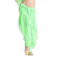 Belly Dance Bottoms Women's Training Chiffon Ruffles Natural