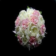 ihana satiini / puuvilla pyöreä muoto häät kukkakimppu